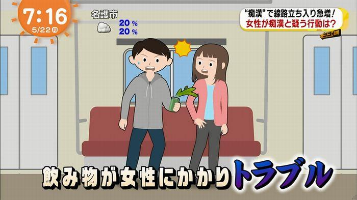 めざましTV 痴漢のキャプ6