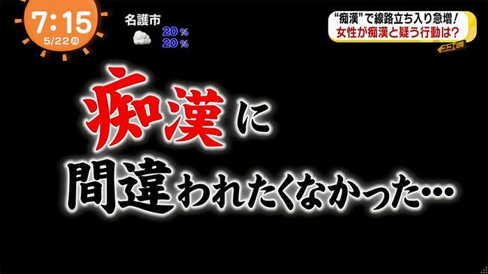 めざましTV 痴漢のキャプ5
