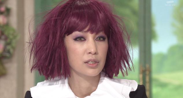 紫色の髪の中島美嘉