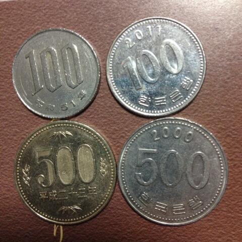 韓国硬貨比較