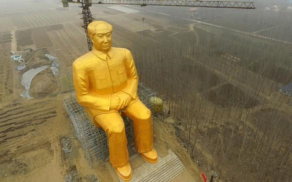 黄金の毛沢東像
