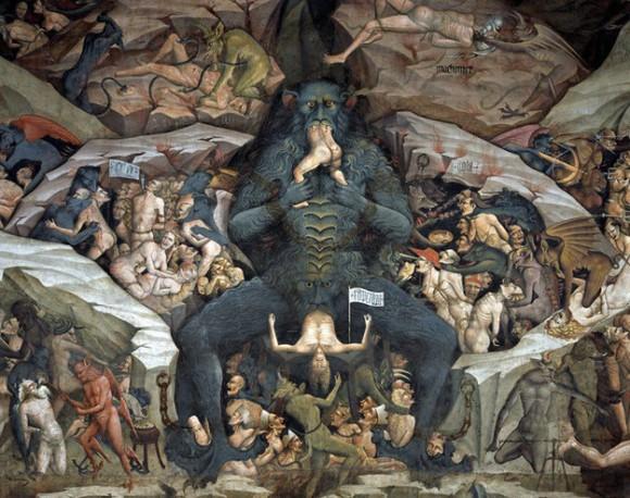 悪魔の絵画フレスコ画地獄